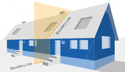 Party Wall illustration for Warwick Surveyors